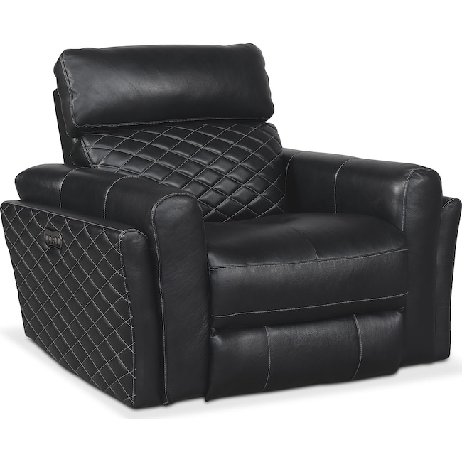 Living Room Furniture - Catalina Power Recliner - Black
