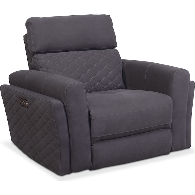 Living Room Furniture - Catalina Power Recliner - Gray