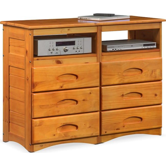 Kids Furniture - Ranger Media Dresser - Pine