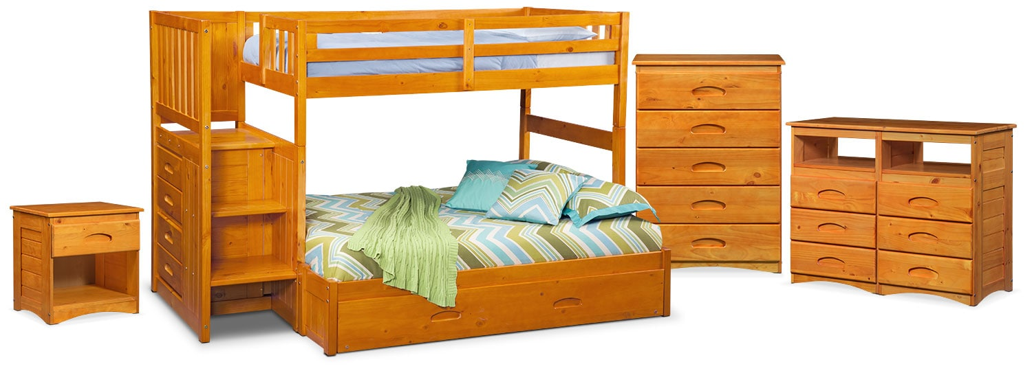 The Ranger Bunk Bed Collection - Pine