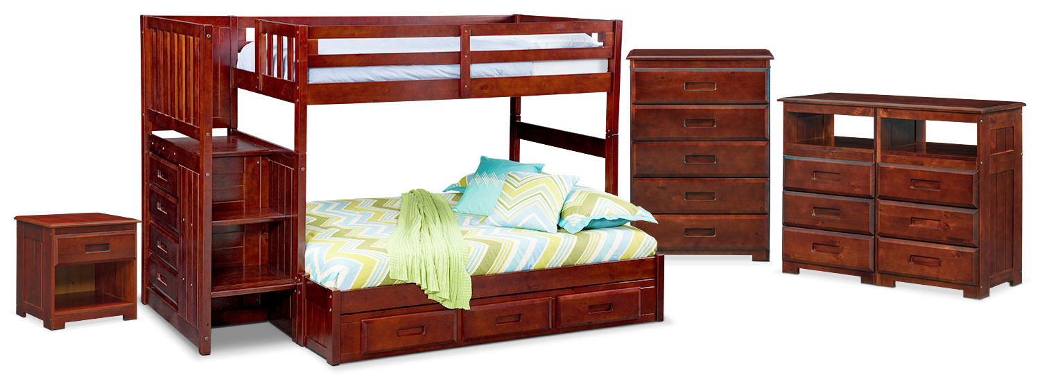 The Ranger Bunk Bed Collection - Merlot