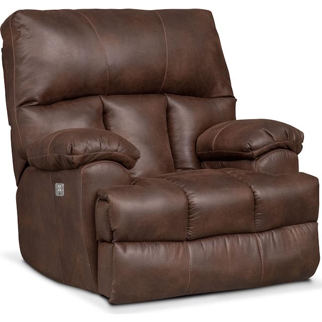 Living Room Furniture - Bronco Dual Power Recliner - Espresso