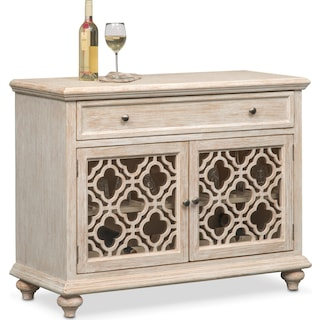 Chateau Wine Cabinet - Washed White