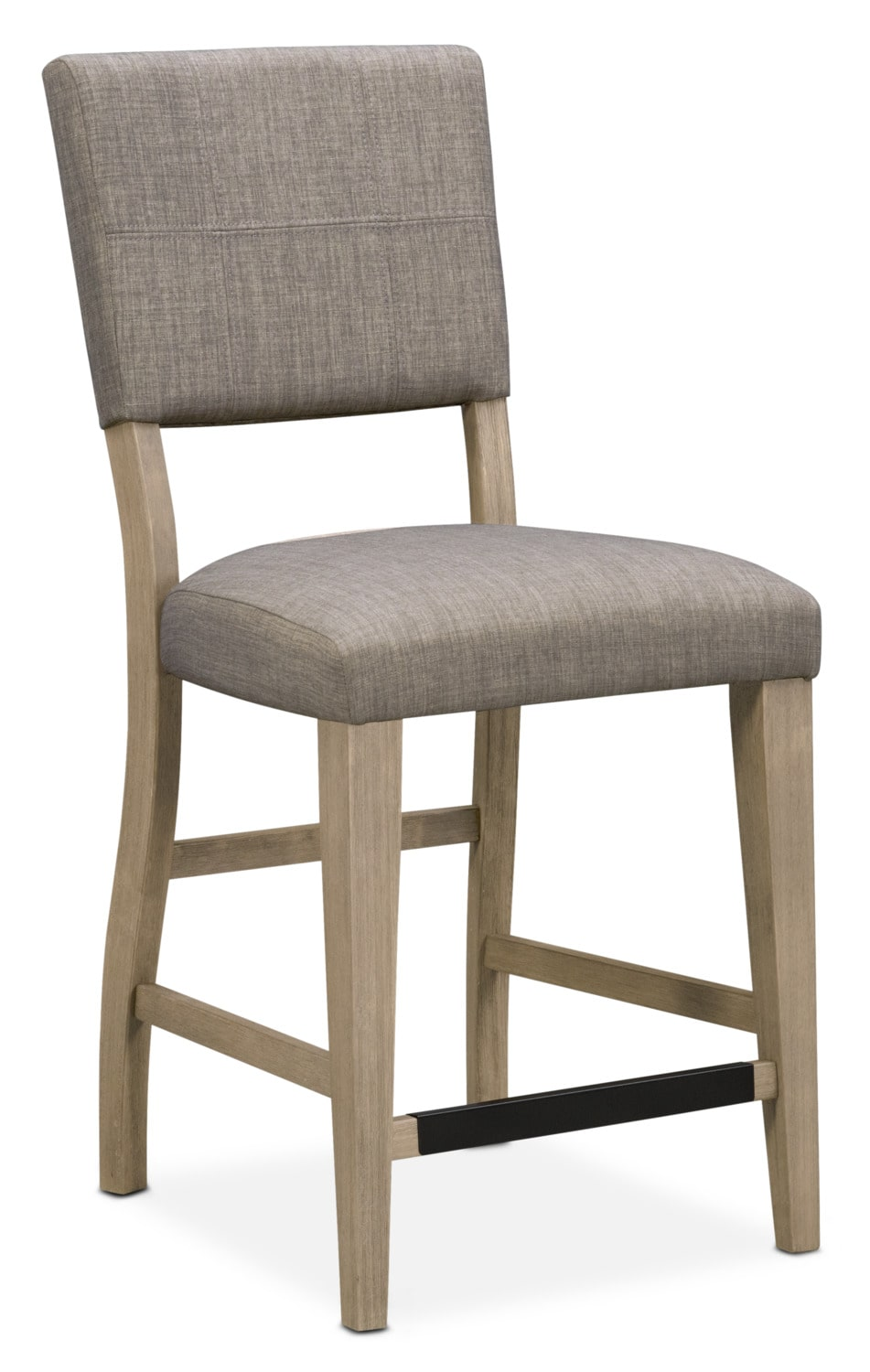 Dining Room Furniture - Tribeca Counter-Height Upholstered Side Chair- Gray