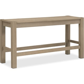 Tribeca Counter-Height Bench - Gray