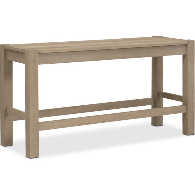 Accent and Occasional Furniture - Tribeca Counter-Height Bench - Gray