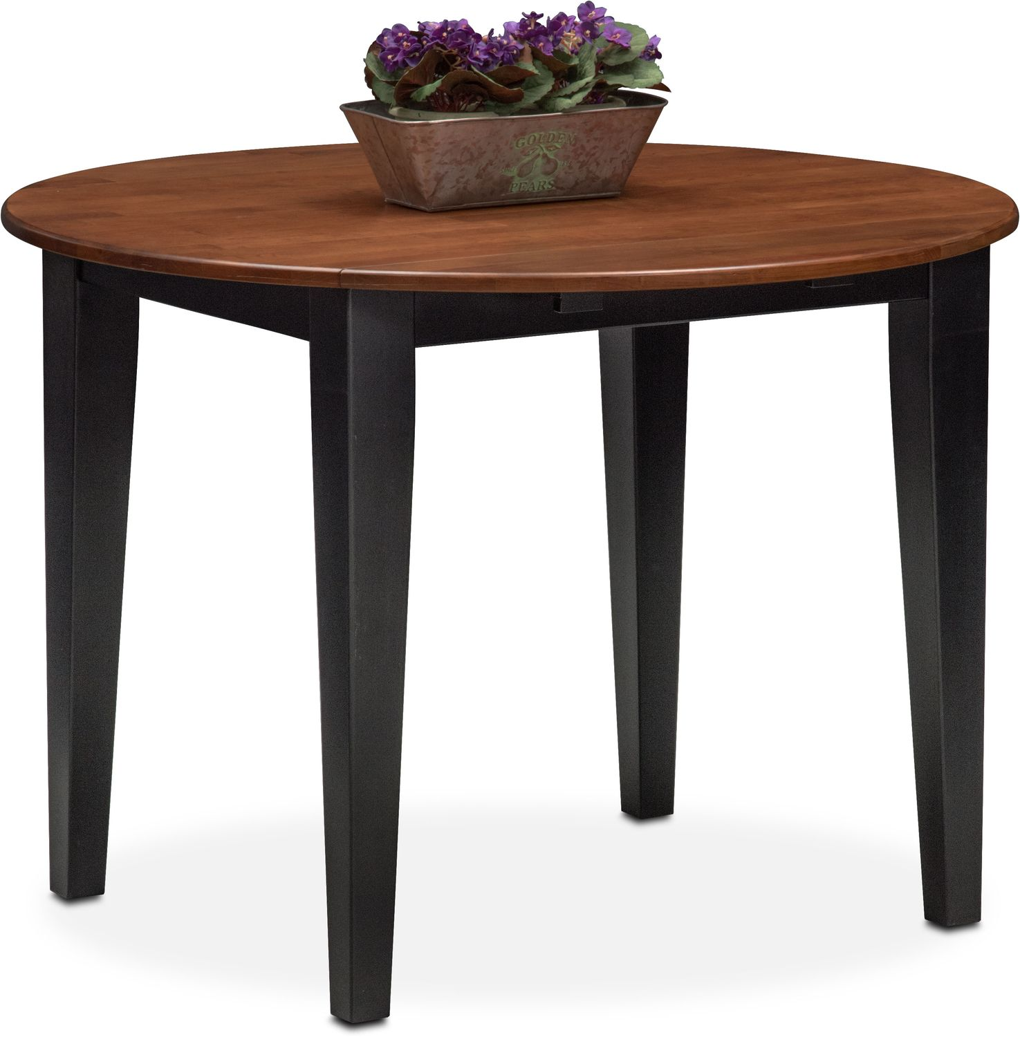 Black Dining Table With Leaf: Nantucket Drop-Leaf Table - Black And Cherry