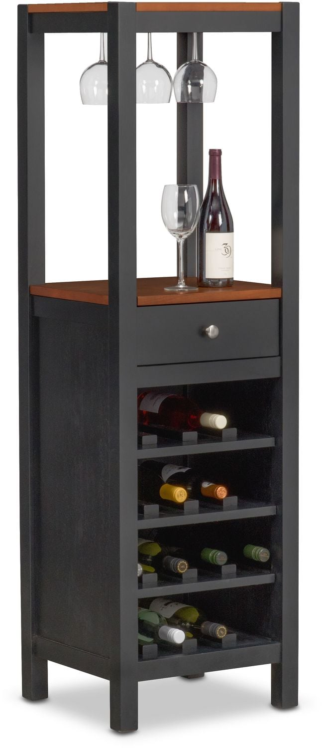 Dining Room Furniture   Nantucket Wine Cabinet   Black And Cherry
