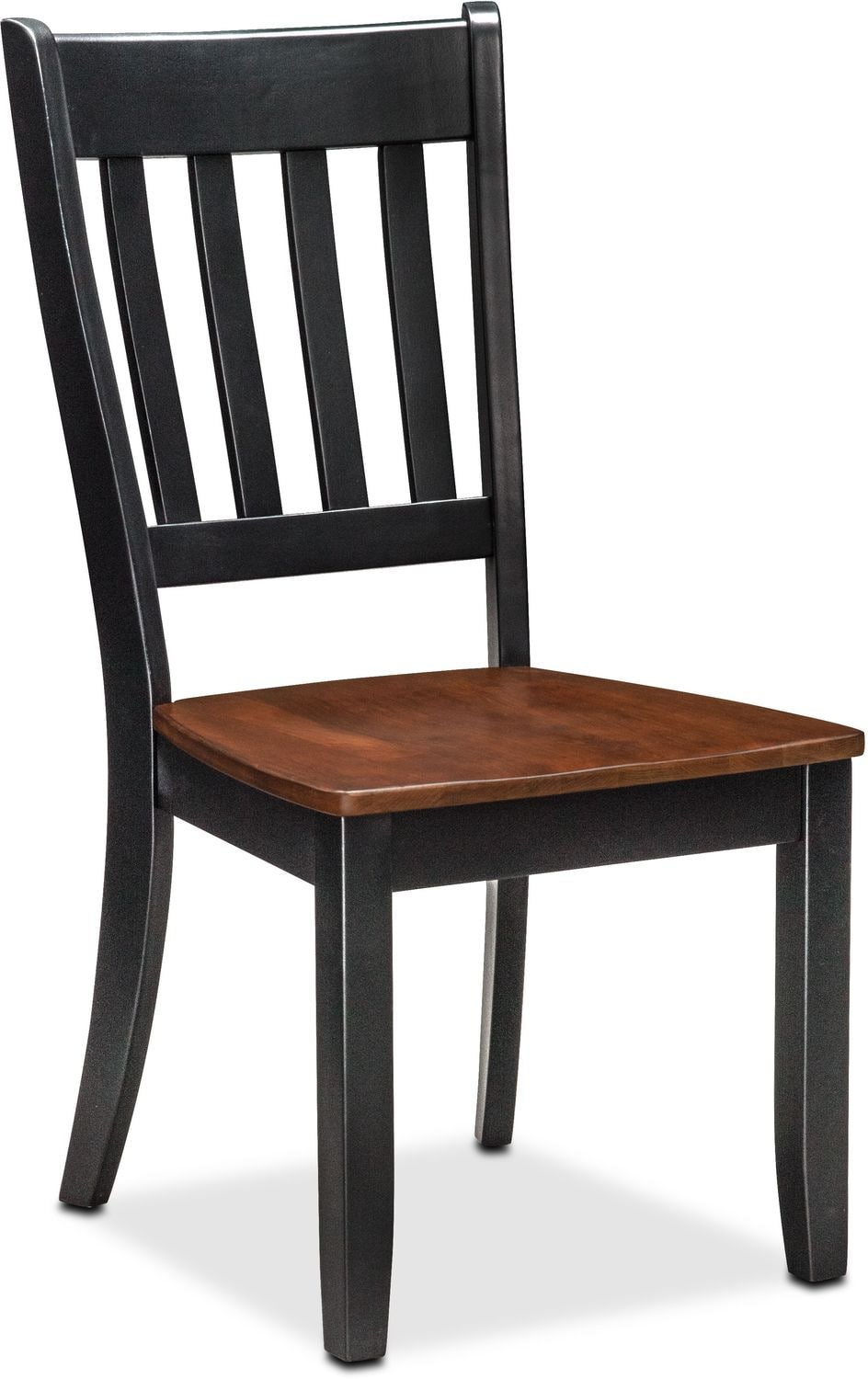 Nantucket Slat-Back Chair - Black and Cherry