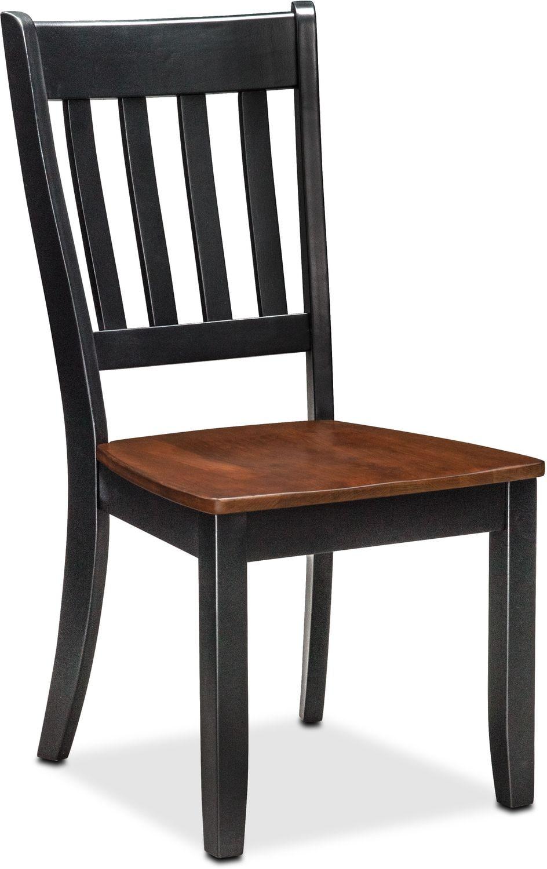Nantucket Slat-Back Chair - Black and Cherry