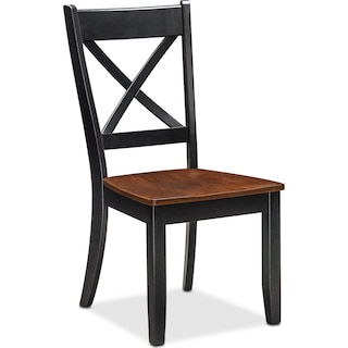 Nantucket Side Chair - Black and Cherry