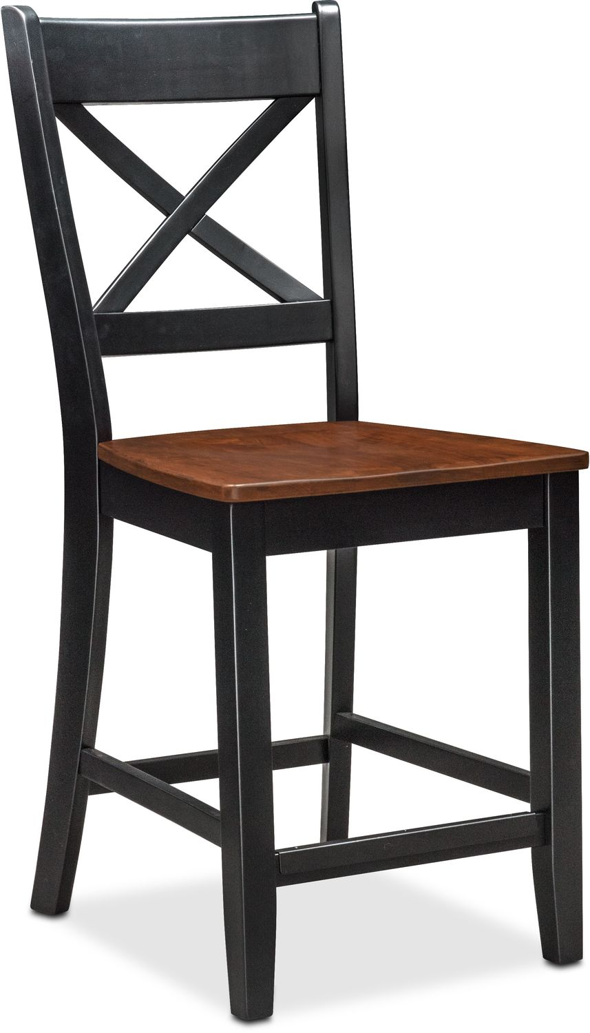 Nantucket Counter Height Side Chair Black And Cherry