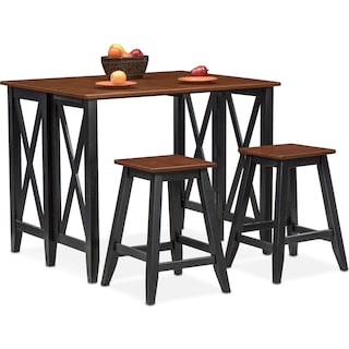 Nantucket Breakfast Bar and 2 Counter-Height Stools