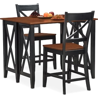 Nantucket Breakfast Bar and 2 Counter-Height Side Chairs