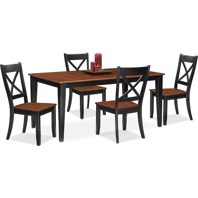 Dining Room Furniture - Nantucket Dining Table and 4 Dining Chairs