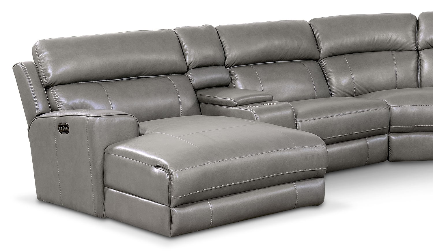Newport 6 Piece Power Reclining Sectional With Left Facing