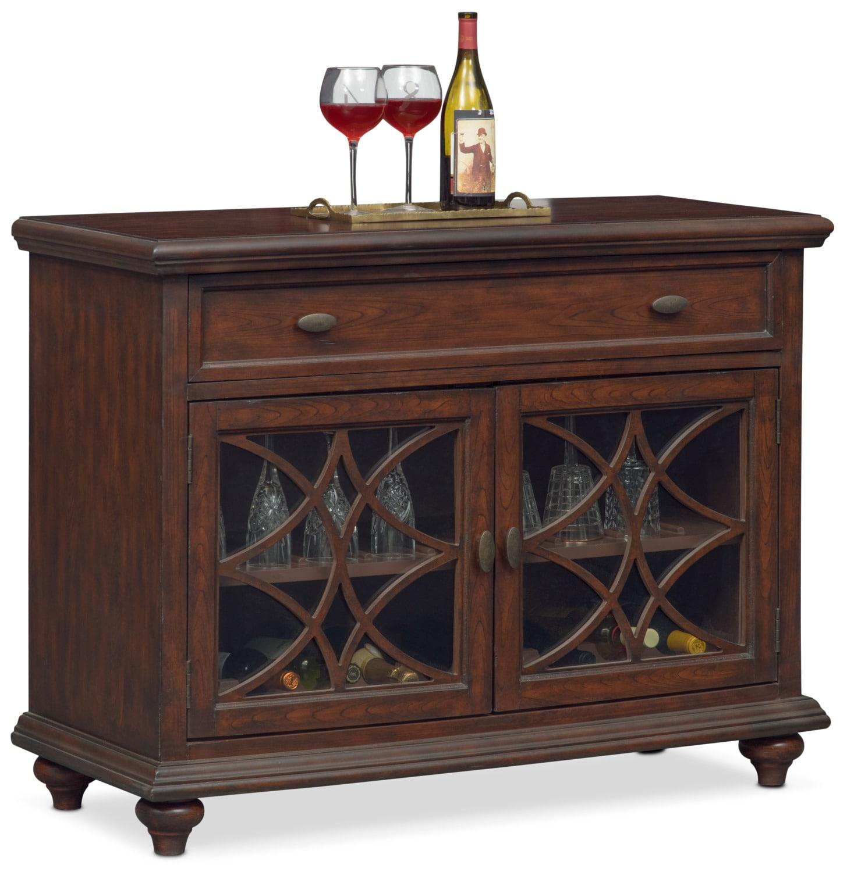 Accent and Occasional Furniture - Rivoli Wine Cabinet - Brown