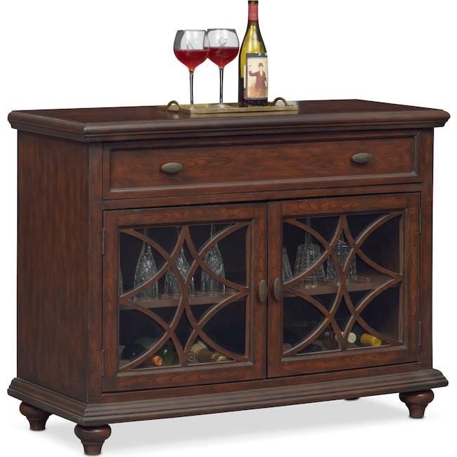 Accent and Occasional Furniture - Rivoli Wine Cabinet - Brown