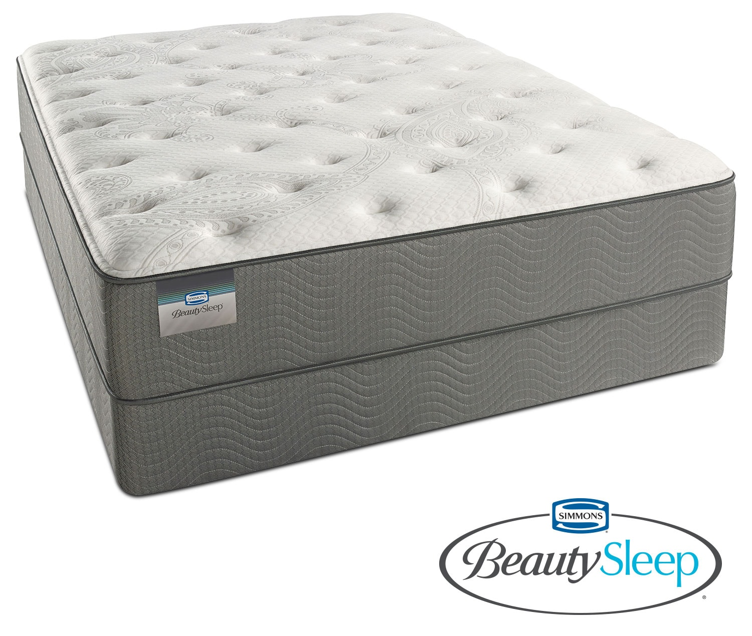 Mattresses and Bedding - Stags Leap Luxury Firm Queen Mattress and Low-Profile Foundation Set