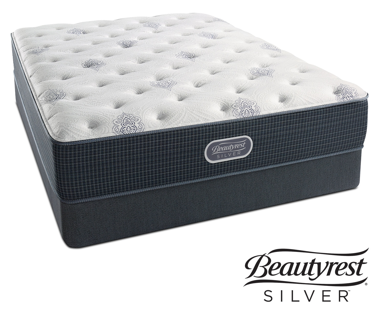 Urban Mist Plush Queen Mattress and Split Foundation Set
