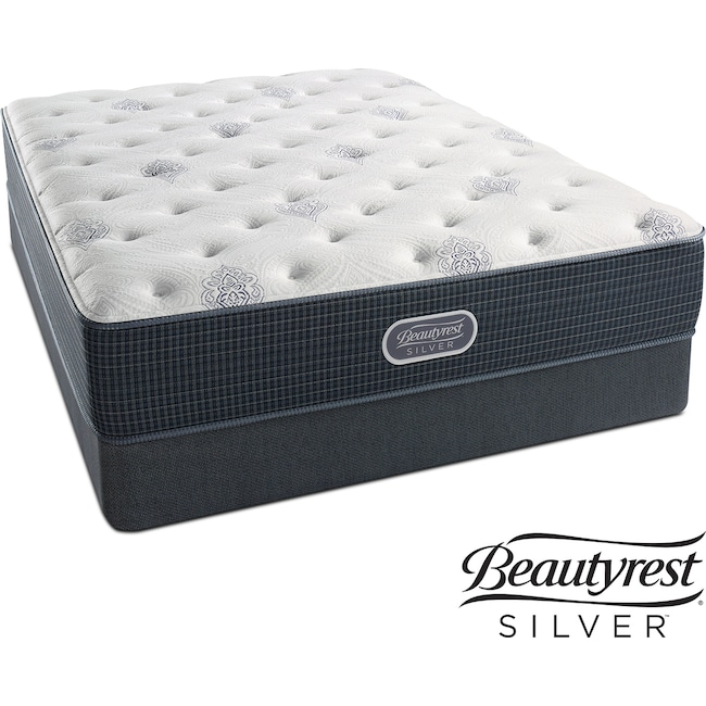 Mattresses and Bedding - Urban Mist Plush King Mattress and Split Foundation Set