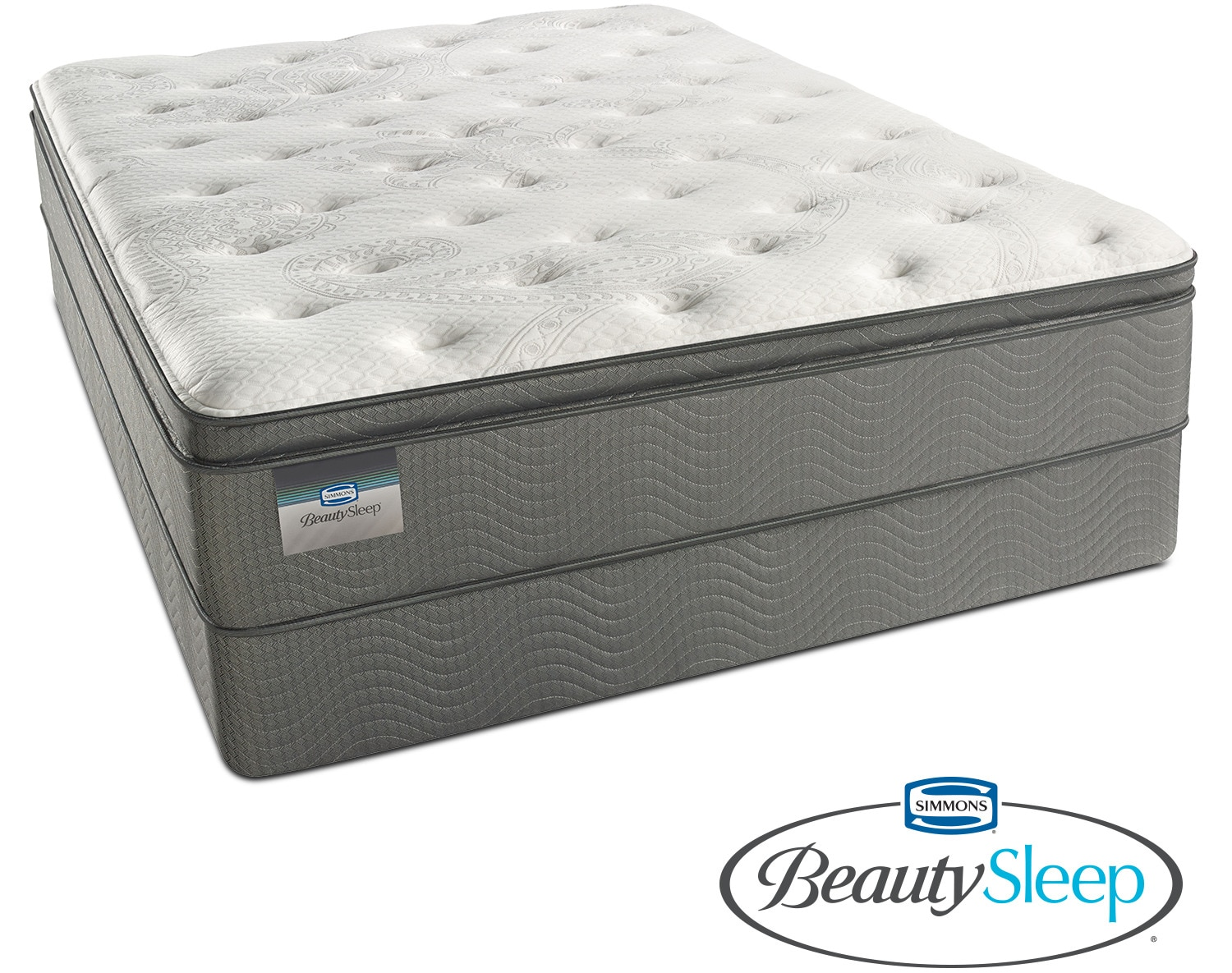 Stags Leap Luxury Firm Pillowtop Queen Mattress And Split Foundation Set American Signature