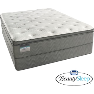 Stags Leap Luxury Firm Pillowtop King Mattress and Split Low-Profile Foundation Set