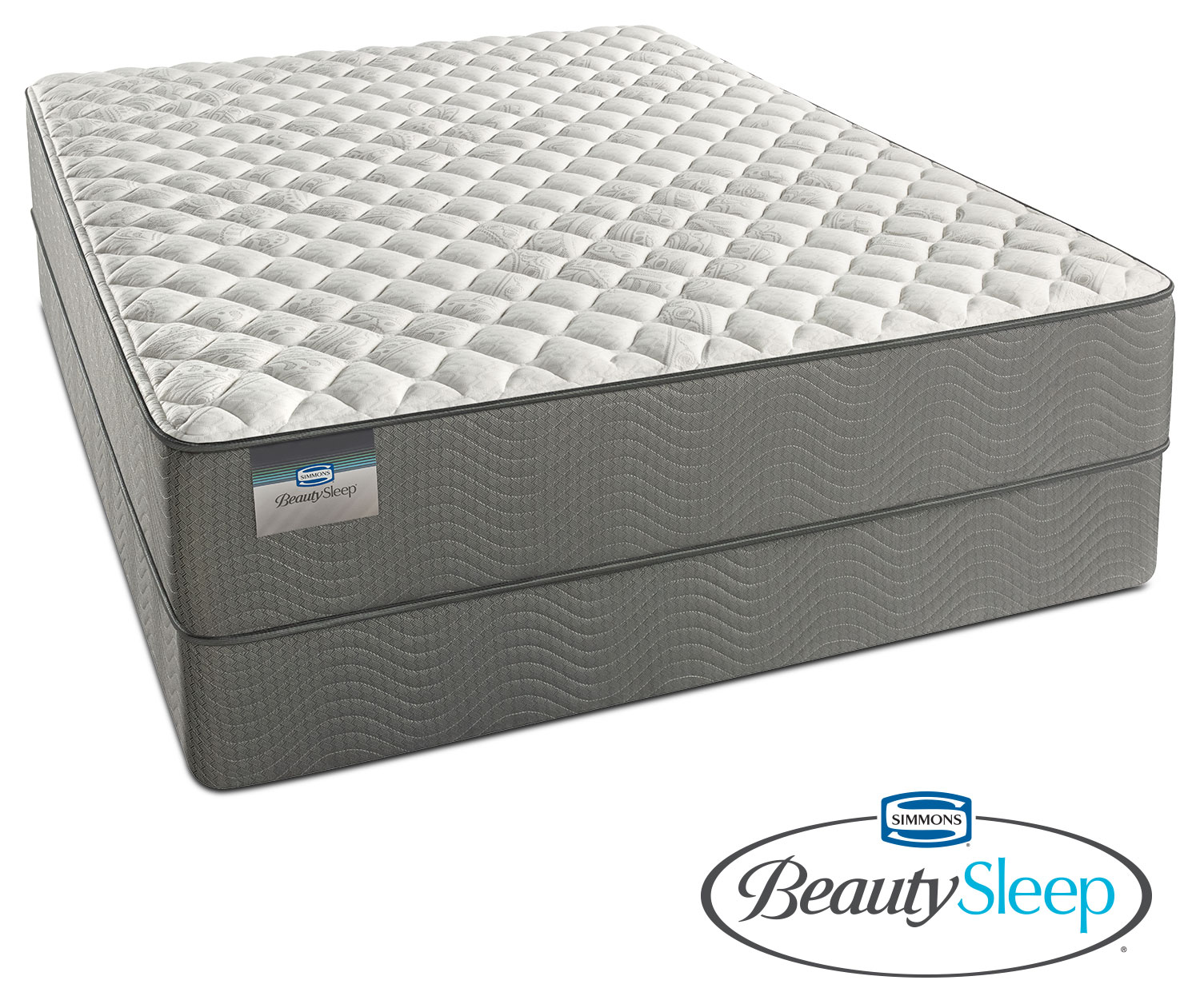 Mattresses and Bedding - Alpine White Firm Queen Mattress and Low-Profile Foundation Set