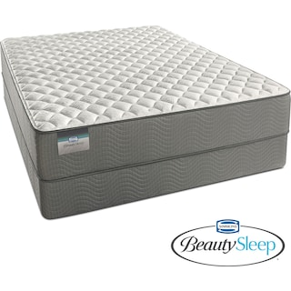 Alpine White Firm Twin Mattress and Low-Profile Foundation Set