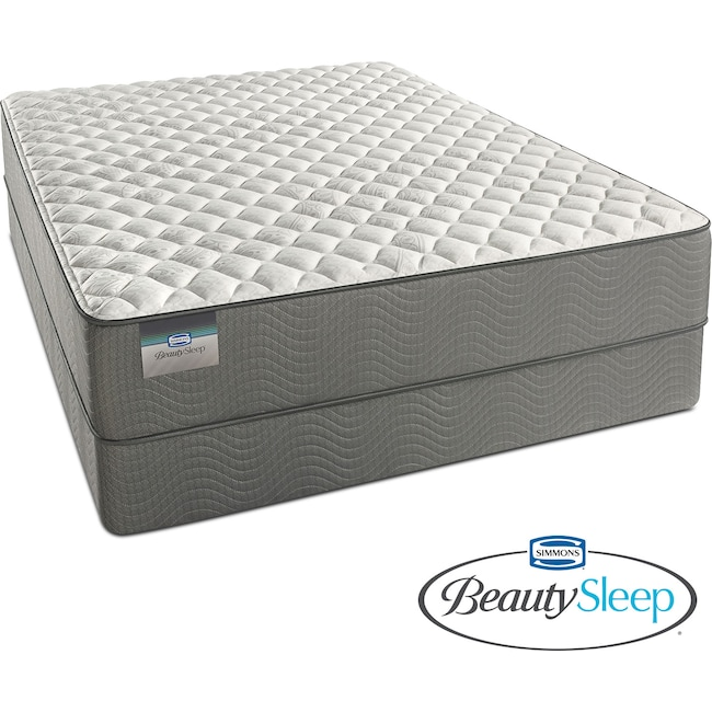 Mattresses and Bedding - Alpine White Firm King Mattress and Split Foundation Set