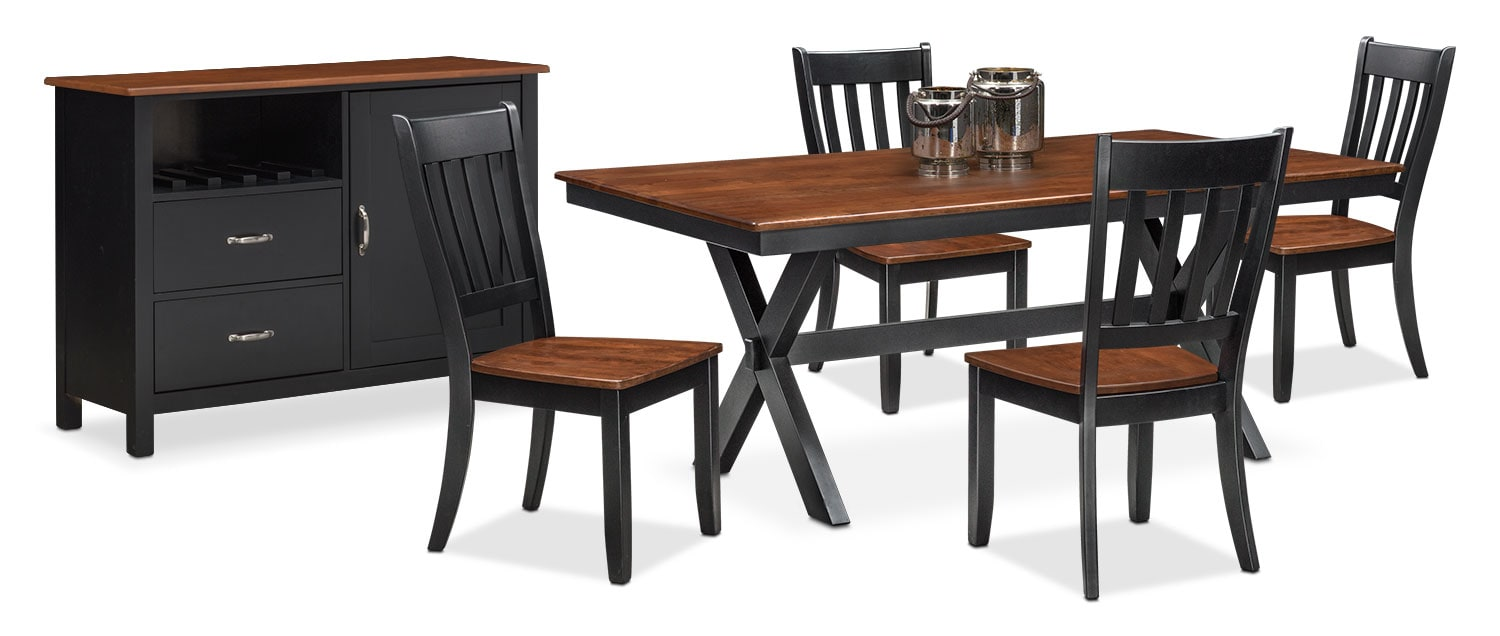 The Nantucket Dining Collection - Black and Cherry
