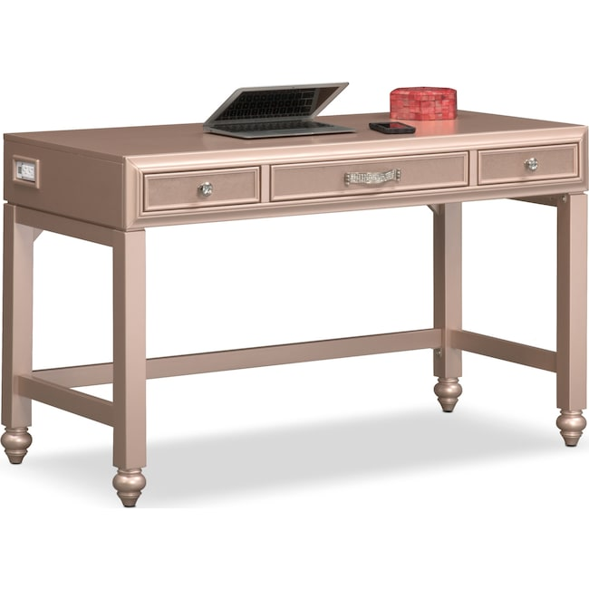 Bedroom Furniture - Serena Vanity Desk - Rose Quartz