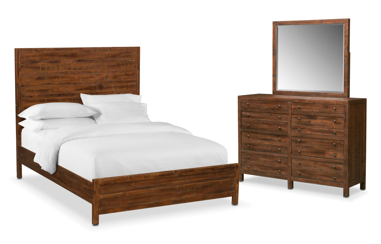 ryder 5 piece queen bedroom set mahogany american