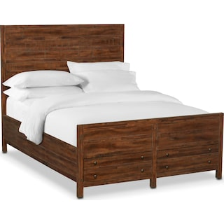 Ryder King Storage Bed - Mahogany