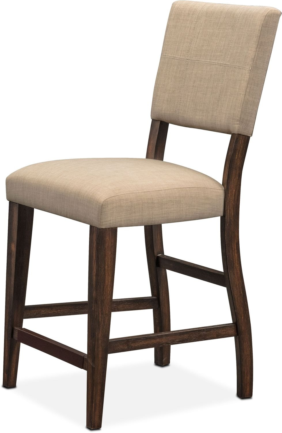 Tribeca Counter Height Upholstered Side Chair Tobacco