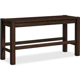Tribeca Counter-Height Bench - Tobacco