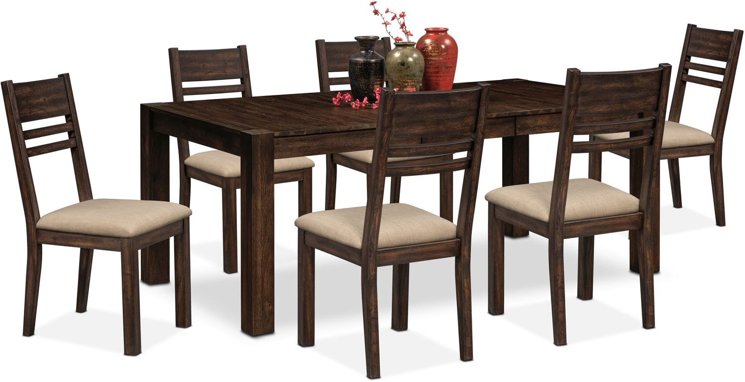 Tribeca Table And 6 Side Chairs   Tobacco