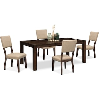 Tribeca Table and 4 Upholstered Side Chairs