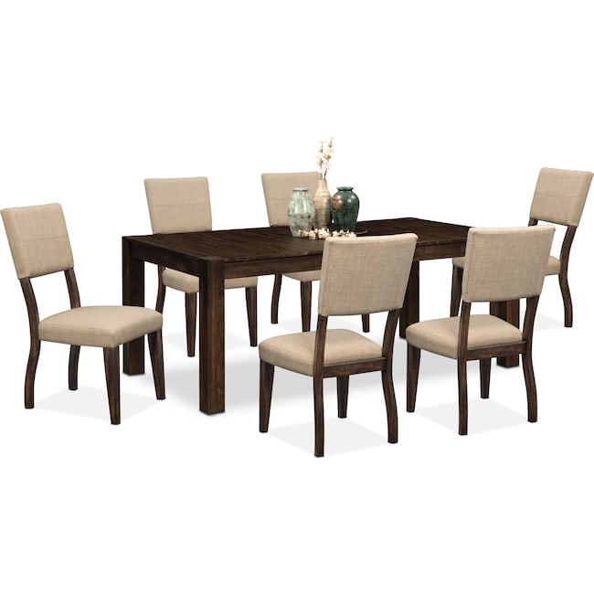 Dining Room Furniture - Tribeca Table and 6 Upholstered Side Chairs