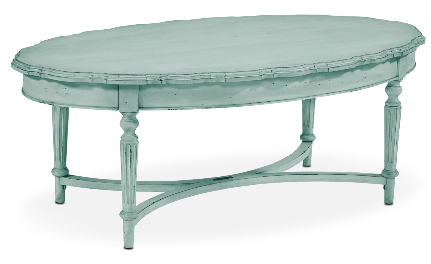 Accent and Occasional Furniture - French Pie Crust Coffee Table - French Blue