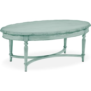 French Pie Crust Coffee Table - French Blue