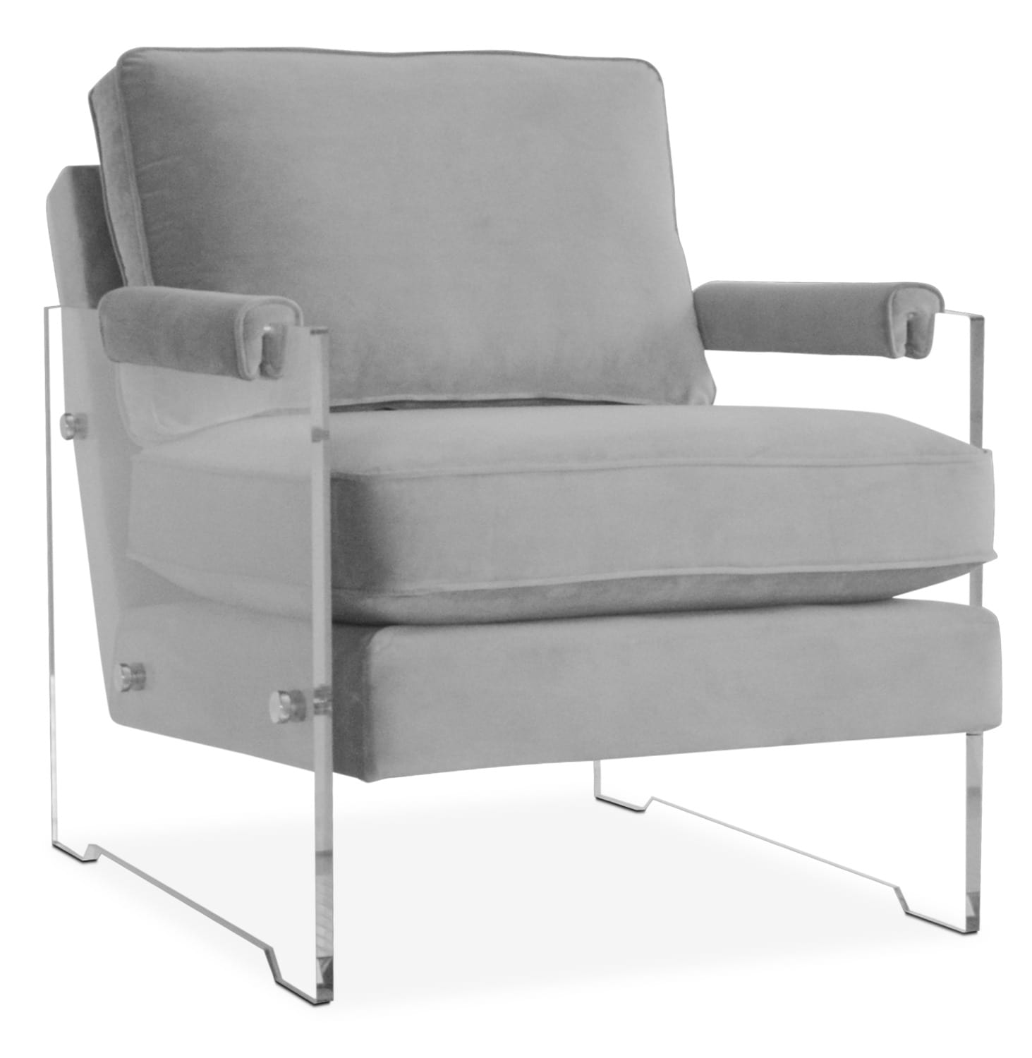 Living Room Furniture - Lexi Accent Chair - Gray