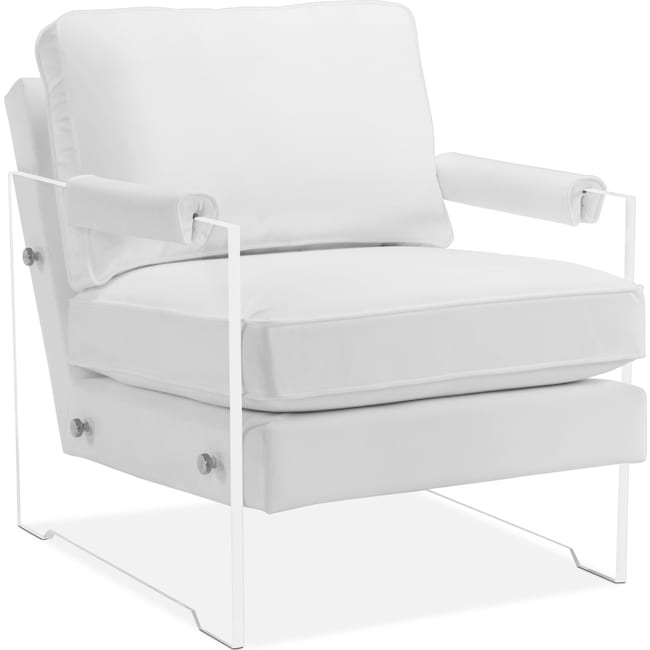 Accent and Occasional Furniture - Lexi Accent Chair - White