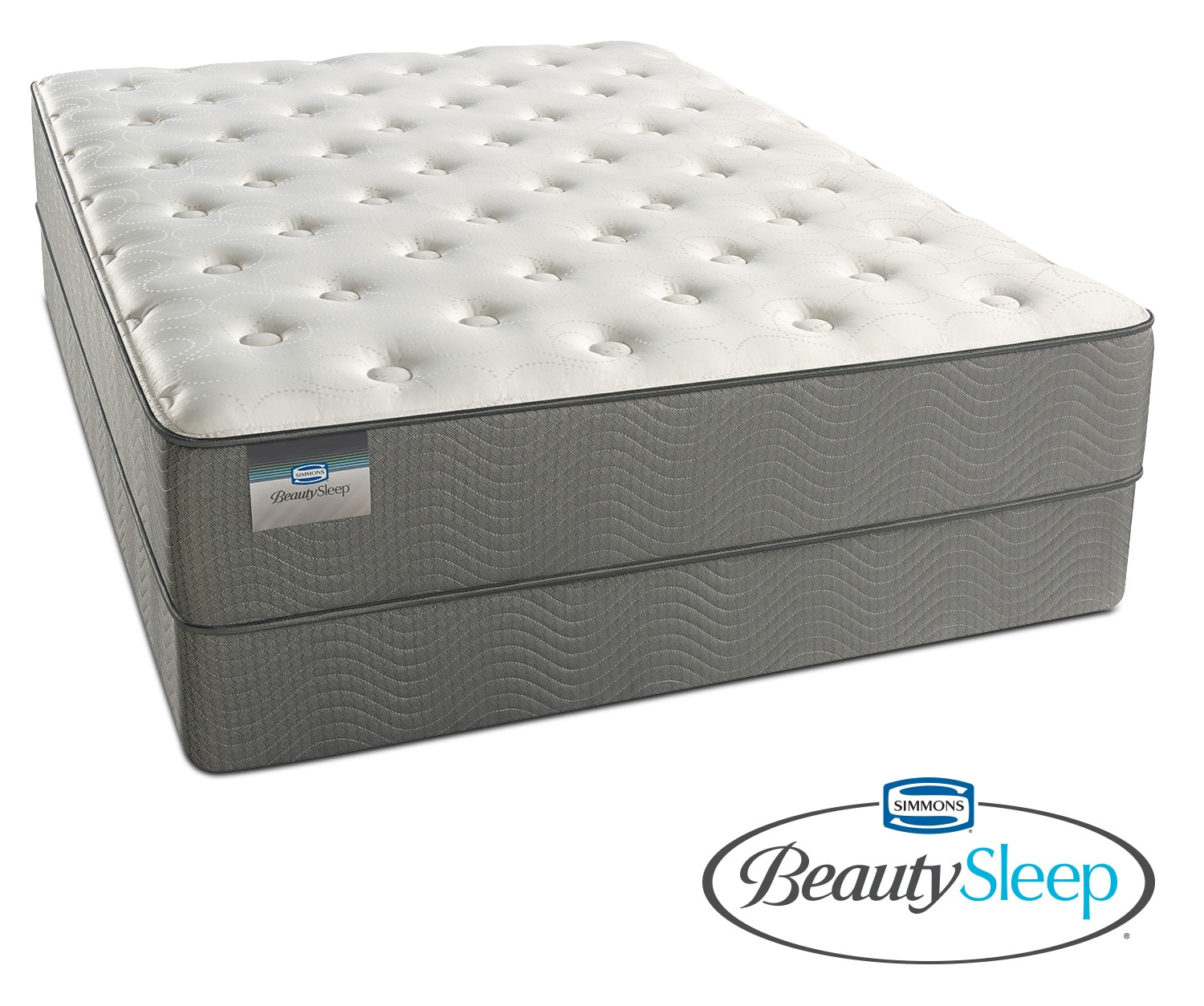 French Grey Plush California King Mattress And Split Foundation Set At  American Signature Furniture In 7077