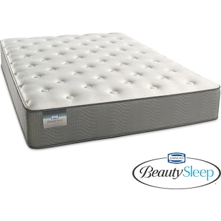 French Grey Plush Queen Mattress