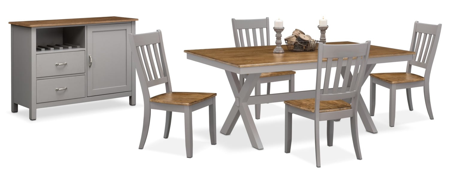 High Quality The Nantucket Dining Collection   Oak And Gray