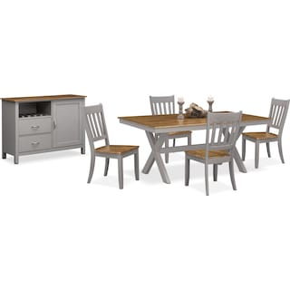 The Nantucket Dining Collection - Oak and Gray