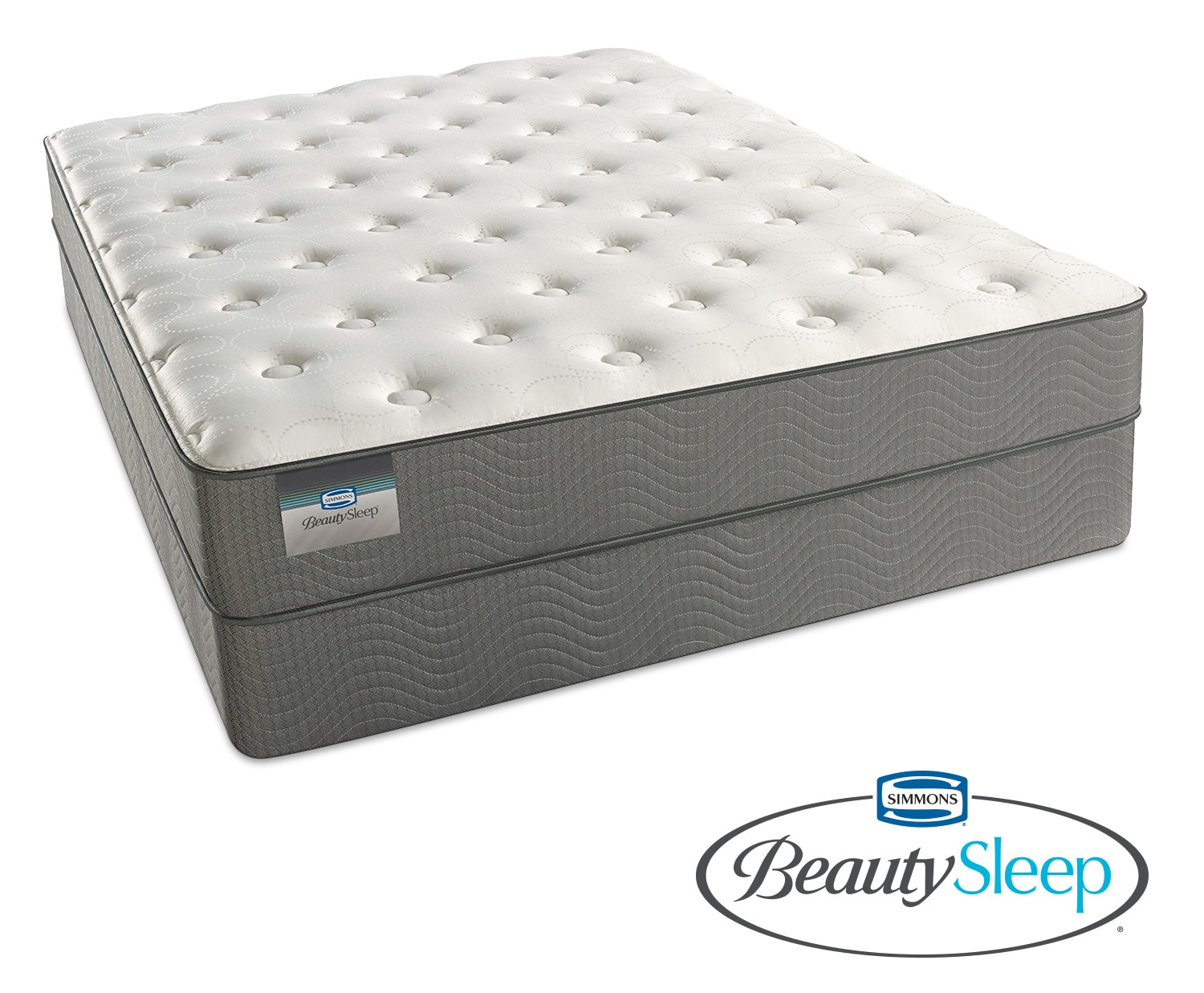Sapphire Blue Luxury Firm King Mattress and Split Foundation Set