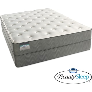 Sapphire Blue Luxury Firm Full Mattress and Low-Profile Foundation Set
