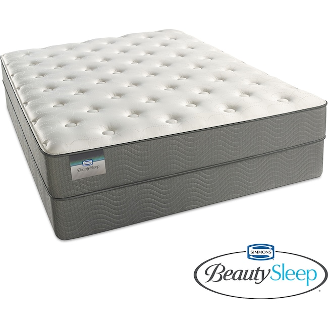 Mattresses and Bedding - Sapphire Blue Luxury Firm Twin Mattress and Foundation Set